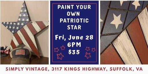 Dixie Belle -Paint Your Own Patriotic Star