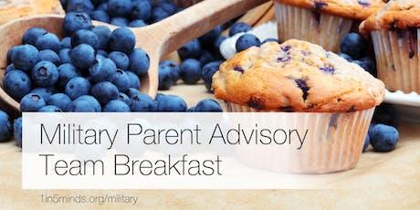 Military Parent Advisory Team (MPAT) breakfast tickets