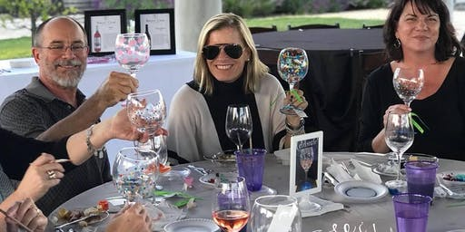 Pop Up Wine Glass Painting at Picnic In The Park Wine Tasting Event
