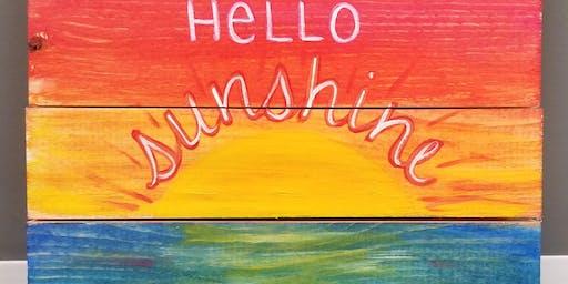 Craft Class: Wood Sign Sunset