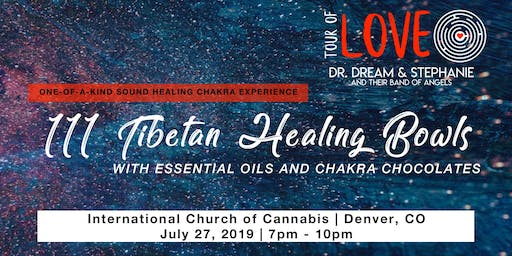 111 Tibetan Healing Bowls, Essential Oils & Chakra Chocolate Experience, Sound Healing, Denver, CO