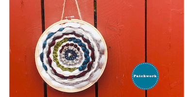 Patchwork Presents Hoop Weaving Wall Hanging Craft Workshop