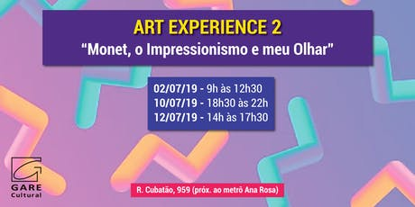 """Art Experience: """"Monet, o Impressionismo e meu Olhar"""" ingressos"""
