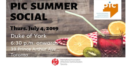 PIC/IABC Summer Social tickets