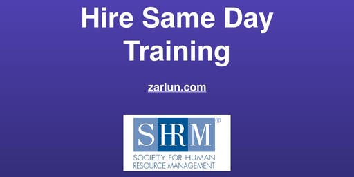 Hire Same Day Training (Revolutionary) Atlanta EB