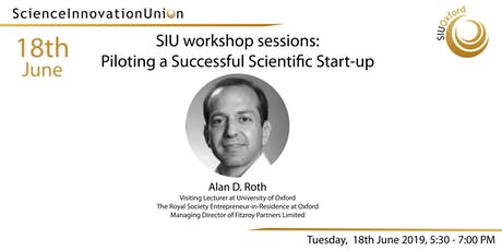 SIU Workshop Sessions: Piloting a Successful Scientific Start-up  tickets