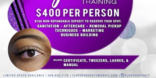 $400 DFW Eyelash Extension Training