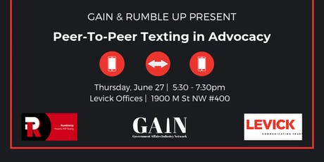 Peer-To-Peer Texting in Advocacy tickets