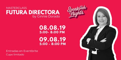 "Workshop ""Futura Directora"" by SpeakHers Academy boletos"