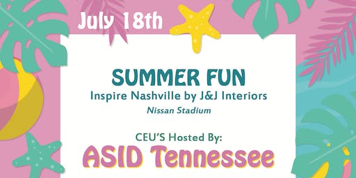 Inspire Nashville CEU's hosted by ASIDTN