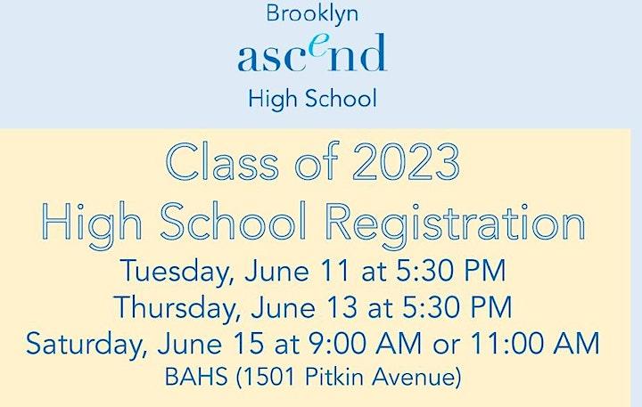 •Class of 2023 High School Registration image