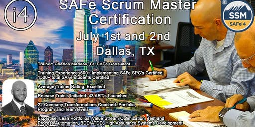 SAFe 4.6 Scrum Master with SSM Certification Course - Dallas, TX - Guaranteed to Run!!