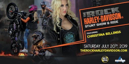 The Rock Harley-Davidson Stunt Show and Ride ft. Christina Billings
