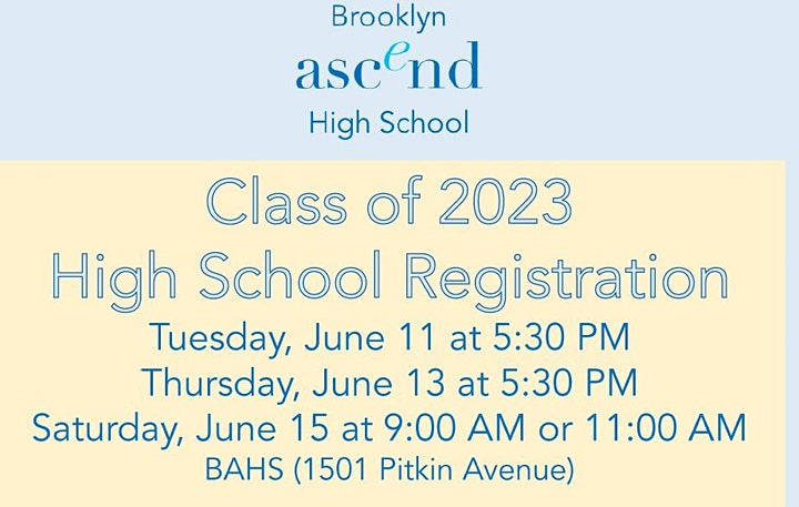 Class of 2023 High School Registration image