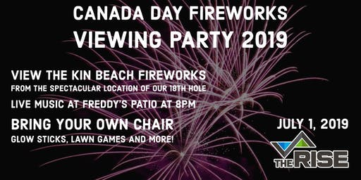 Canada Day Fireworks Viewing Party 2019