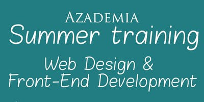 Web application summer training