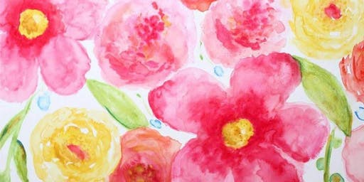 Abstract Floral Paint Party