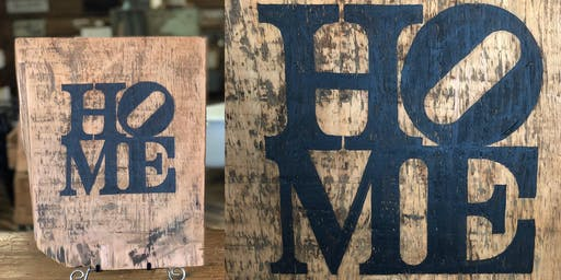 Barn Board Sign Painting