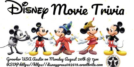 Disney Movie Trivia at Growler USA Austin tickets