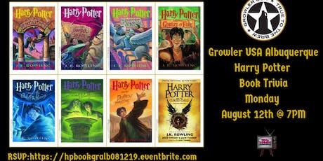 Harry Potter (Book) Trivia at Growler USA Albuquerque  tickets