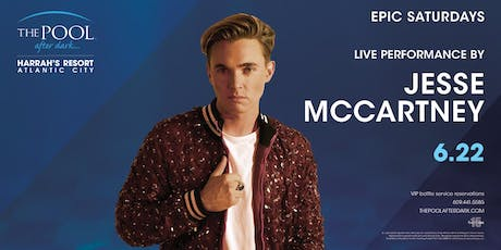 Jesse McCartney | Epic Saturdays at The Pool REDUCED Guestlist tickets