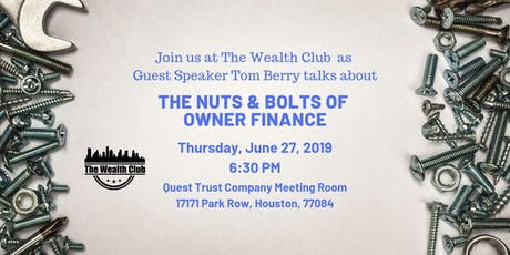 The Nuts & Bolts of Owner Finance tickets