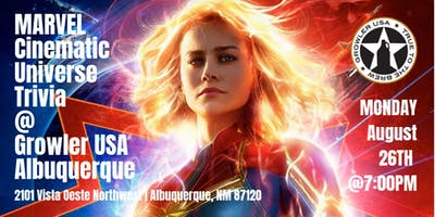 Marvel Cinematic Universe Trivia at Growler USA Albuquerque
