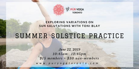 Summer Solstice Practice with Toni Blay tickets