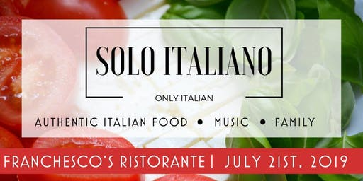 Solo Italiano at Franchesco's