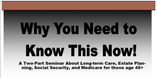 Long Term Care & Social Security Workshop