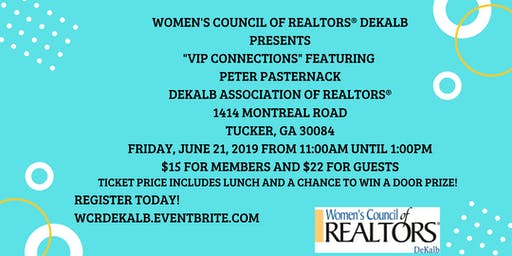 VIP Connections with Peter Pasternack - Women's Council of REALTORS® DeKalb