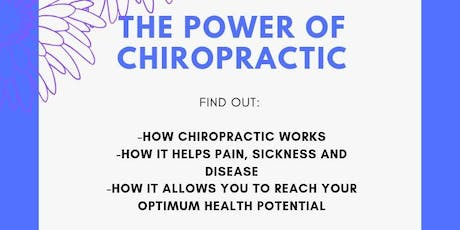 THE POWER OF CHIROPRACTIC  tickets
