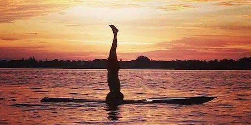 SUP yoga at Deer Creek