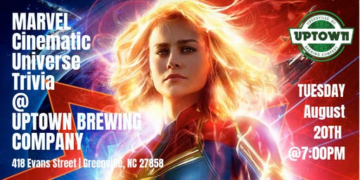 Marvel Cinematic Universe Trivia at Uptown Brewing Company