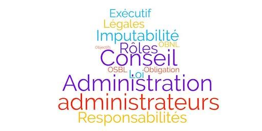 Responsabilités légales et obligations des administrateurs d'un conseil d'administration d'OSBL et d'un conseil exécutif