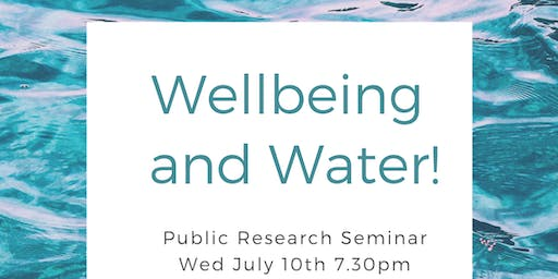 Water and Wellbeing!