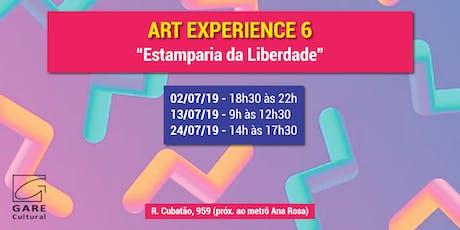"""Art Experience: """"Estamparia da Liberdade"""" ingressos"""