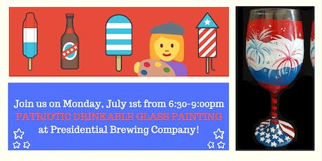Presidential Brewing Co + Colors & Cocktails: Patriotic Glass Painting! tickets