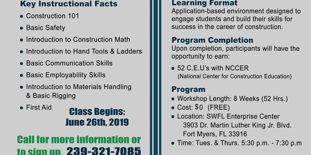 Preconstruction Readiness Training Program Tickets, Multiple Dates