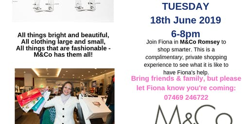 M&Co private shopping party
