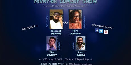 Funny-ish Comedy: June OpenMic+Showcase (NO COVER) tickets
