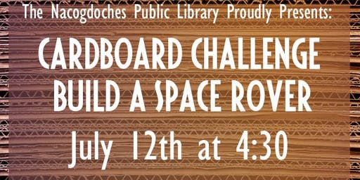 Cardboard Challenge: Build a Space Rover