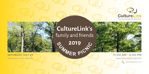 CultureLink's Family-and-Friends 2019 Summer Picnic