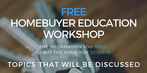 Homebuyer Education Workshop with Paragon Real Estate Partners