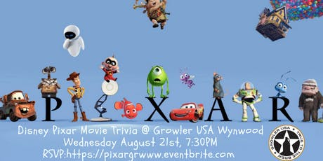 Disney Pixar Movie Trivia at Growler USA Wynwood tickets