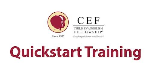 Quick Start Training - Saturday August 17