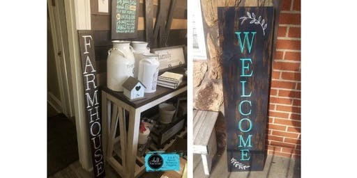 DIY FRONT PORCH SIGN - CHALK COUTURE