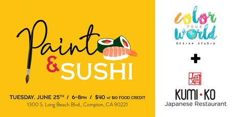 Paint & Sushi | June 25th tickets