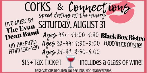 Corks and Connections: Speed Dating at the Winery
