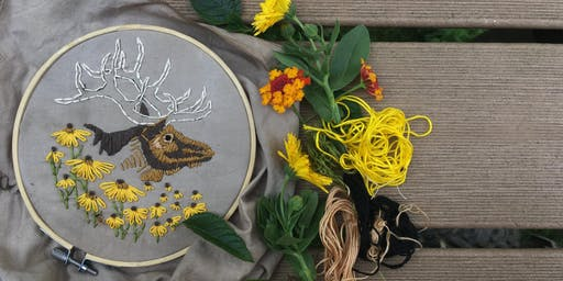 Extinct Embroidery: Eastern Elk